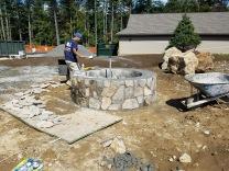 Stone veneer Firepit