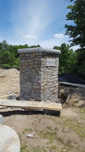 Highcrest Stone veneer pier