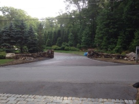 Weston- Stone entrance walls
